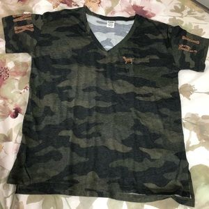 Victoria Secret pink camo Bling Top
